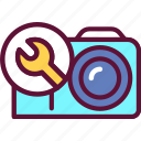 repair, camera, equipment, photo