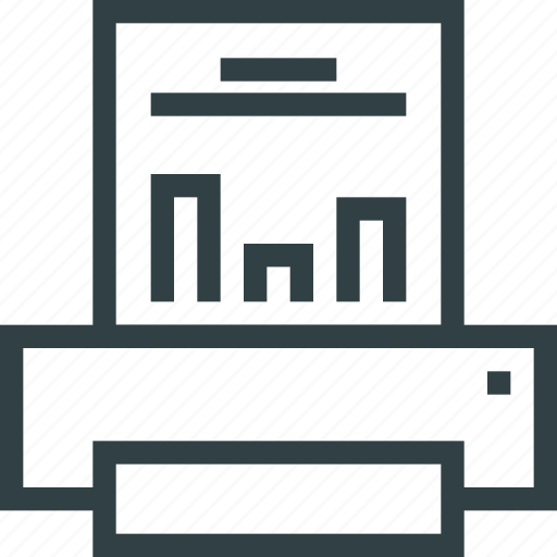 print, printer, report icon