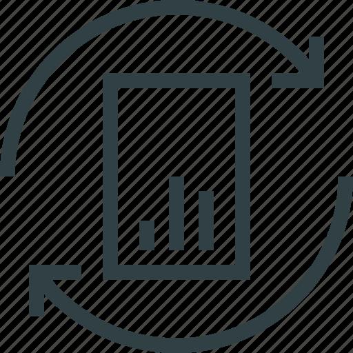 report, statistics, upload icon