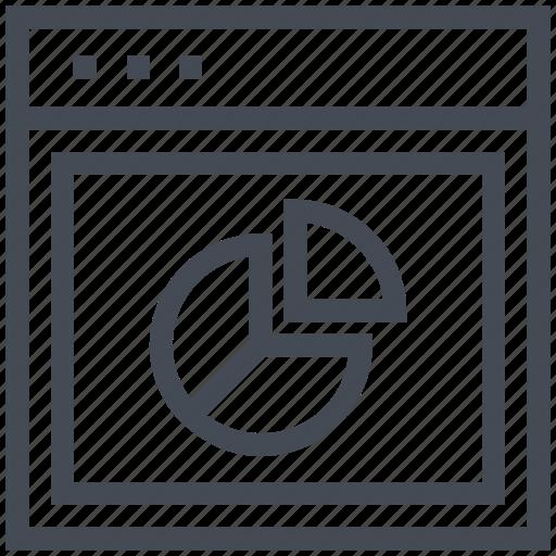 analytic, bar chart, infographic, online graph, web analytics icon