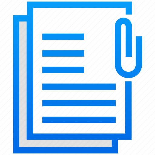 attached document, attachment, document, file attached, paperclip icon