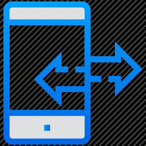 data exchange, data share, data transfer, mobile, mobile data icon