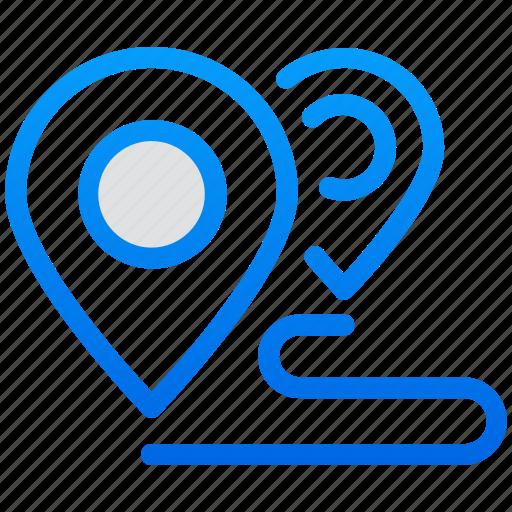 gps, location, location distance, map, navigation icon