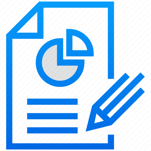 business report, editing, pencil, report, report writing icon