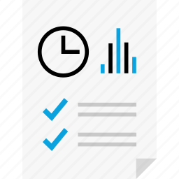 bars, clock, layout, page, report, reports, up icon