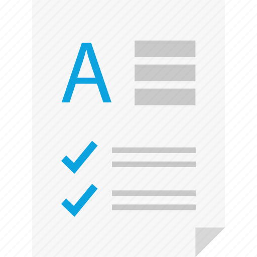 a, check, layout, letter, page, report, reports icon