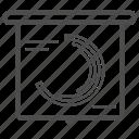 blackboard, chart, charts, report, reports icon