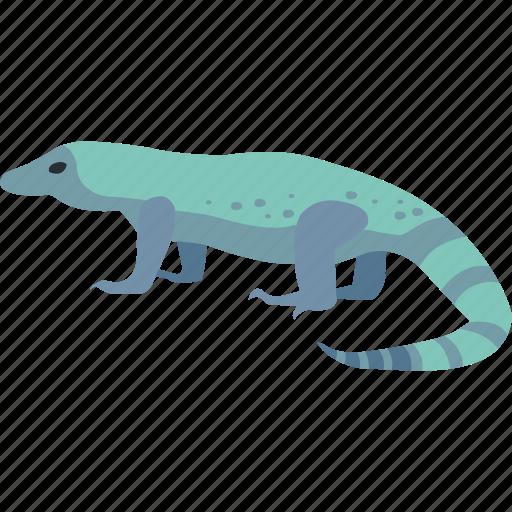goanna, komodo dragon, large, lizard, monitor, reptile icon