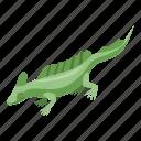 cartoon, green, hand, isometric, lizard, tattoo, tree icon
