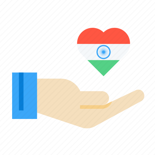 Care, day, hand, heart, india, national, republic icon - Download on Iconfinder