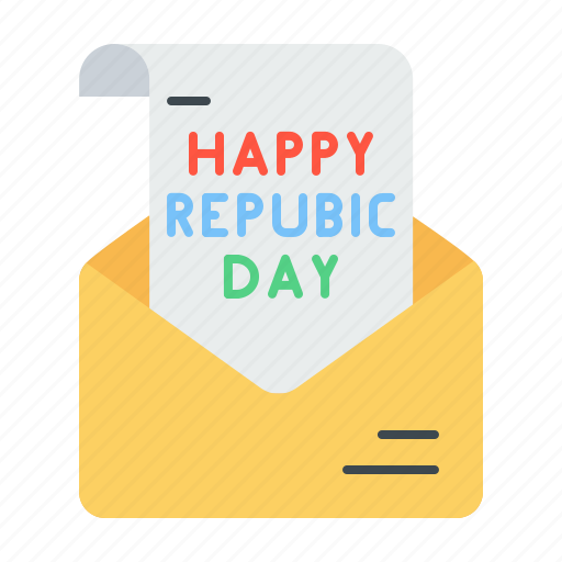 day, email, envelope, greetings, letter, mail, republic icon