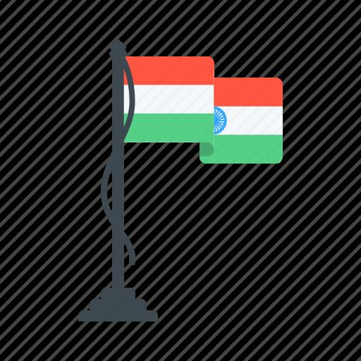 day, flag, host, india, republic, tiranga, tricolour icon