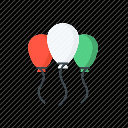ballon, celebrate, day, republic, tricolour icon