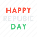 celebrate, day, happy, india, republic, wish icon