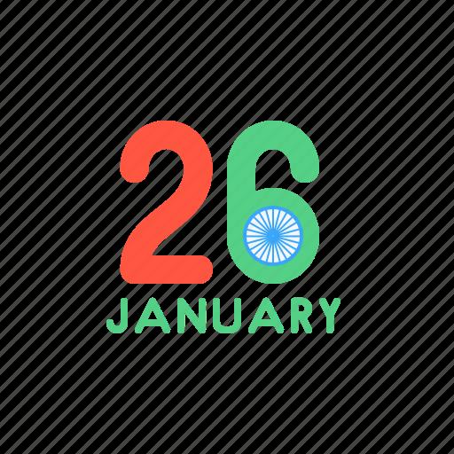 day, india, january, national, republic, wish icon