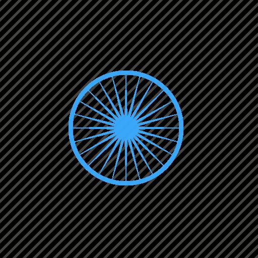 Ashoka, chakra, gear, india, republic, spoke, wheel icon - Download on Iconfinder