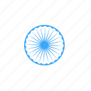 ashoka, chakra, india, national, republic, spoke, wheel icon