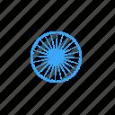 ashoka, chakra, india, national, republic, spoke, wheel