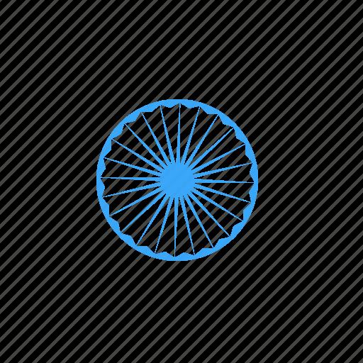 Ashoka, chakra, india, national, republic, spoke, wheel icon - Download on Iconfinder