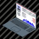 cartoon, hand, isometric, laptop, online, reputation, shopping