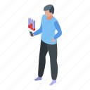 business, cartoon, chart, graph, isometric, online, reputation