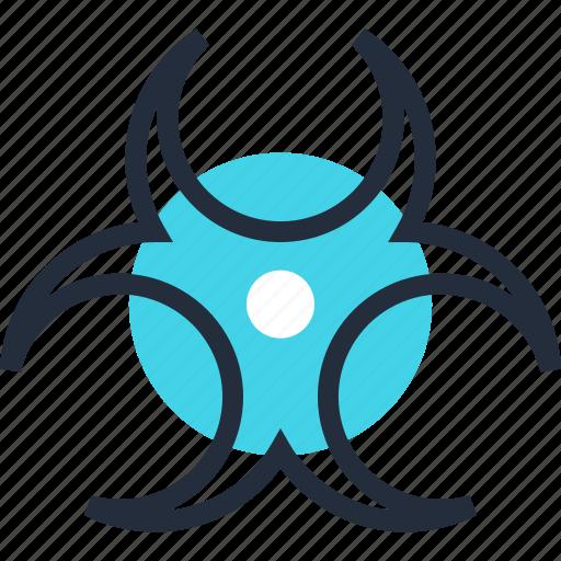 biohazard, biological, danger, science, toxic, virus, warning icon