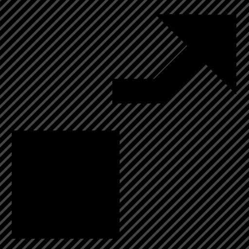 arrow, move, object icon