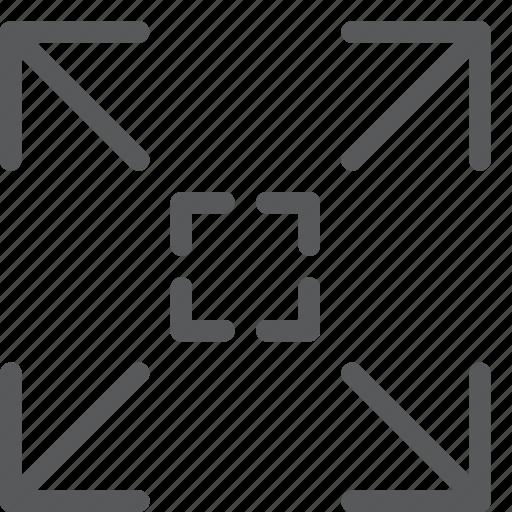 arrow, expand, full, fullscreen, maximize, move, resize, square icon