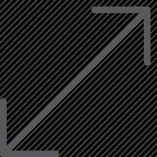arrow, diagonal, expand, maximize, move, resize icon