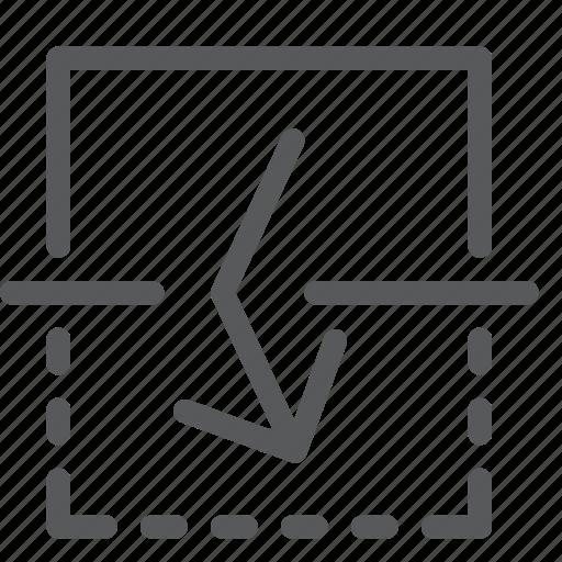 arrow, down, flip, move, resize, transform, vertical icon