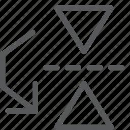 arrow, down, flip, move, reflect, resize, transform, vertical icon