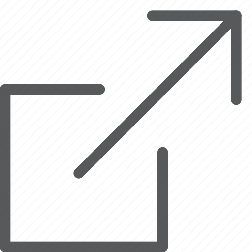 arrow, expand, full, launch, maximize, move, resize, square icon