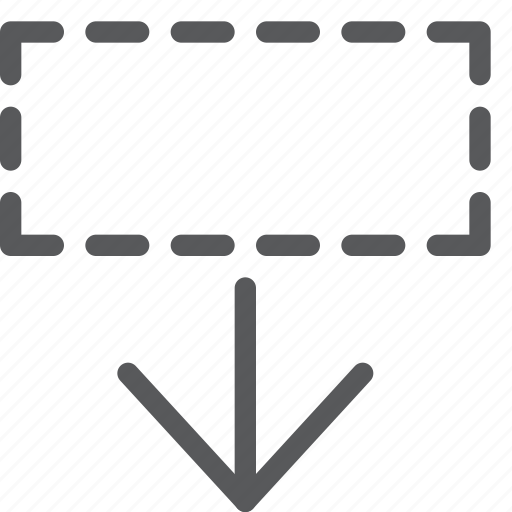 area, arrow, bottom, down, move, resize, save, select icon
