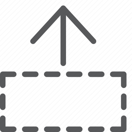 area, arrow, ascend, beginning, move, resize, rise, up icon