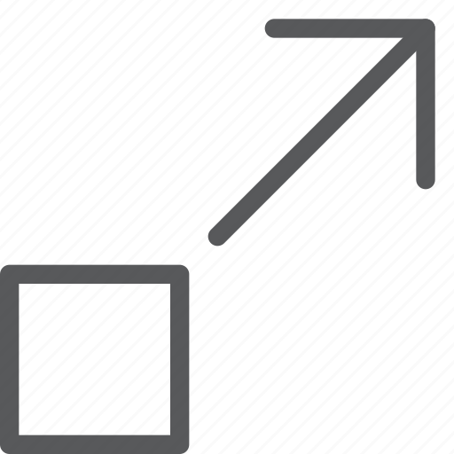 arrow, expand, fullscreen, maximize, move, resize, scale, up icon