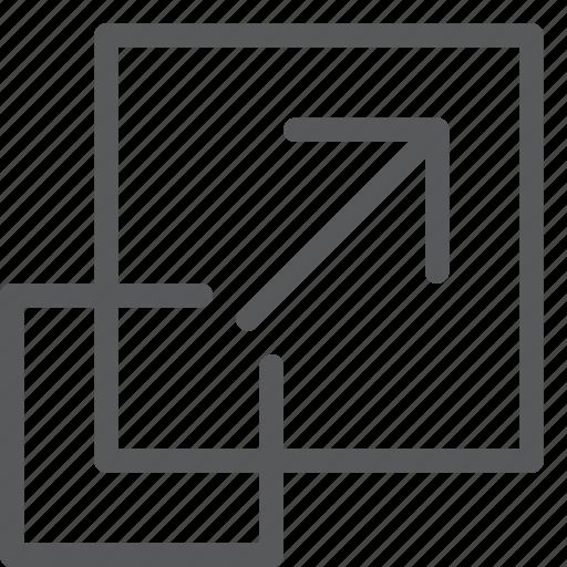 arrow, expand, fullscreen, maximize, move, resize, scale, up icon