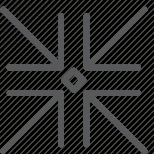 arrows, dot, minimize, move, reduce, resize, scale, shrink icon