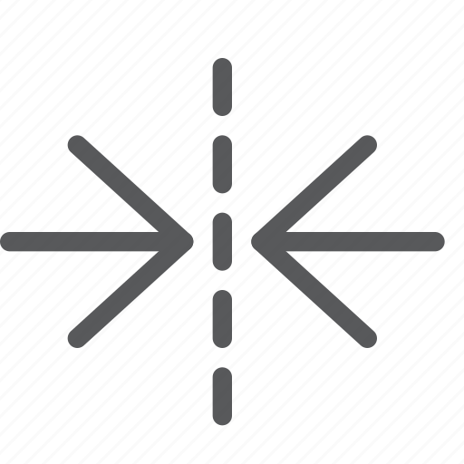 arrows, horizontal, inwards, minimize, move, reduce, resize, scale icon