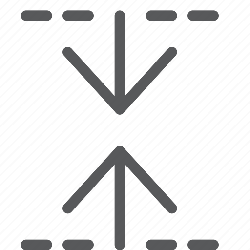 arrows, minimize, move, reduce, resize, scale, shrink, vertical icon