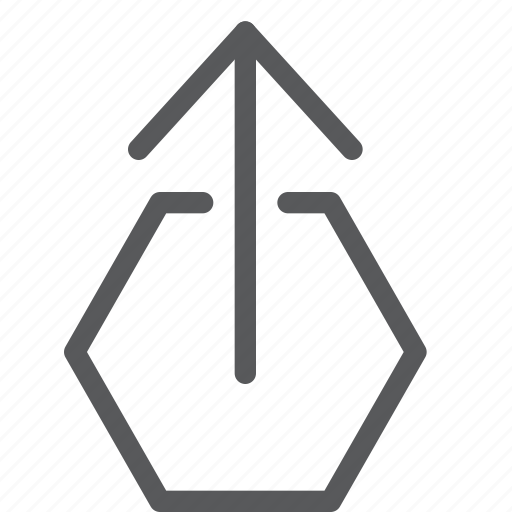 arrow, follow, hexagon, move, power, resize, up icon