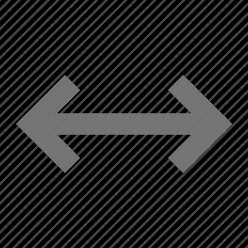 arrows, expand, horizontal icon