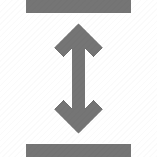 action, arrows, control, design, expand, software, tool, vertical icon