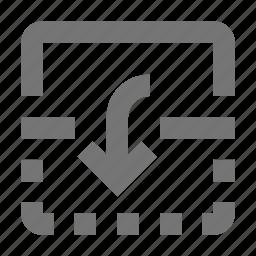 arrow, down, flip icon