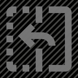 arrow, flip, left icon