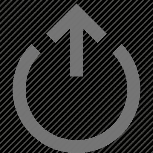 action, arrow, circle, control, design, move, tool, up icon