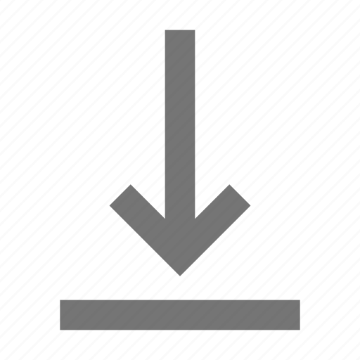 arrow, down, move icon