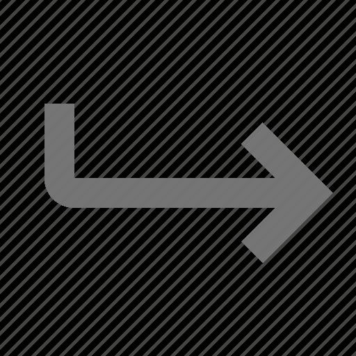 arrow, forward, move icon