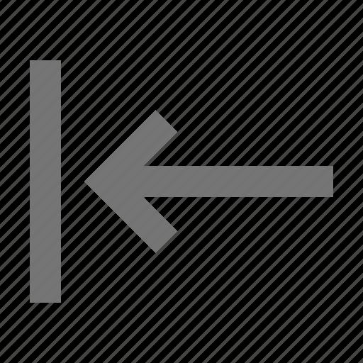 arrow, left, move icon