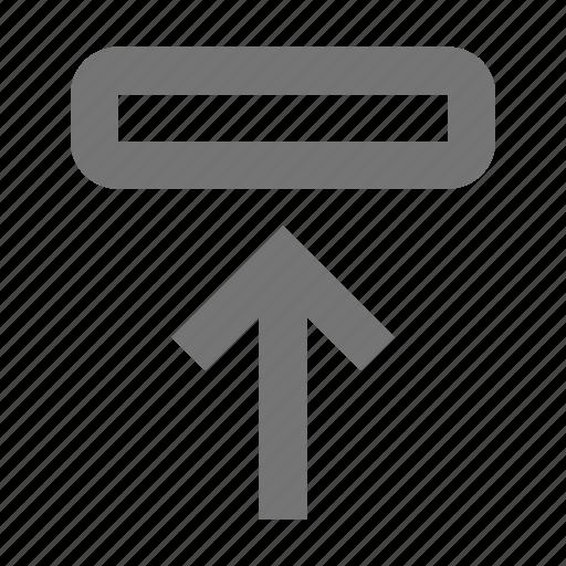 arrow, move, up icon