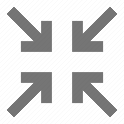 action, arrows, control, design, minimize, shrink, software, tool icon